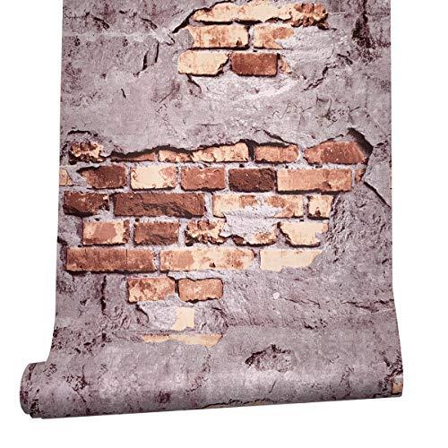 Yifely Garden Bricks Pattern Shelving Paper Self-Adhesive Drawer Liner Refurbished Basement Wall 177 Inch by 98 Feet