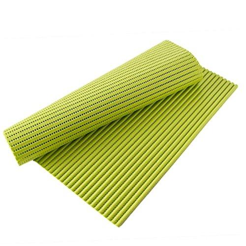 43 x 180 cm Anti Slip Waterproof Shelf Liner Placemat Drawer Wardrobe Organizer Mat Non Adhesive Cabinet Pad Kitchen Rug Home Decor  Green