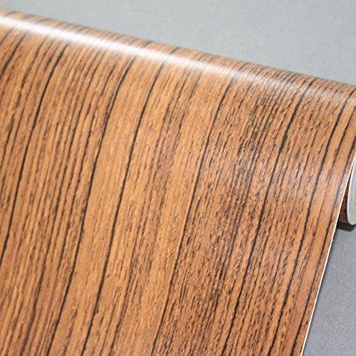 SimpleLife4U Brown Wood Print Shelving Paper Self-Adhesive Drawer Liner Refurbish Ugly Coffee Table 177 Inch By 98 Feet