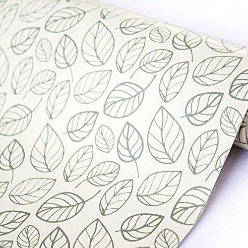 SimpleLife4U Leaf Contact Paper Decorative Self-Adhesive Shelf Liner Dresser Drawer Locker Sticker 177 Inch By 98 Feet