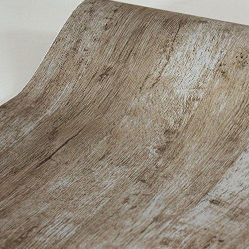 SimpleLife4U Modern Wood Grain Contact Paper Self-Adhesive Shelf Liner Dresser Drawer Sticker 177 Inch by 98 Feet