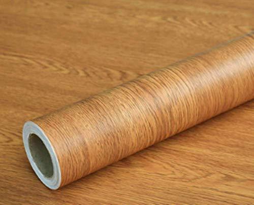 Teemall 156inch by 79inch Brown Wood Grain Waterproof Self Adhesive Shelf Liner Dresser Drawer Cabinet Sticker (Brown Winged Wood)