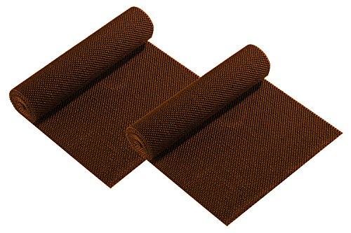 Non-adhesive Anti-Slip Grip Shelf Liners 2 Brown