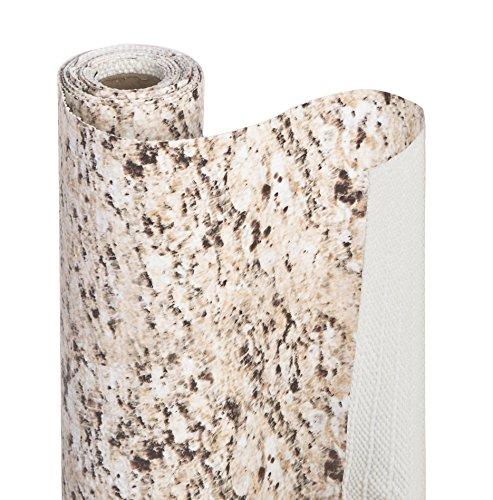 Smart Design Shelf Liner wBonded Grip - Wipes Clean - Cutable Material - Non Slip Design - for Shelves Drawers Flat Surfaces - Kitchen 12 Inch x 10 Feet Desert Granite