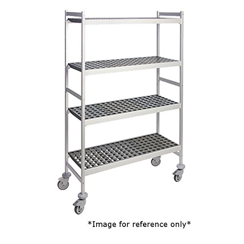 Fermod 4R68A71M Fermostock 4-Tier Mobile Shelving Unit 71H x 68W x 14D 250 lbs Max Weight Per Shelf