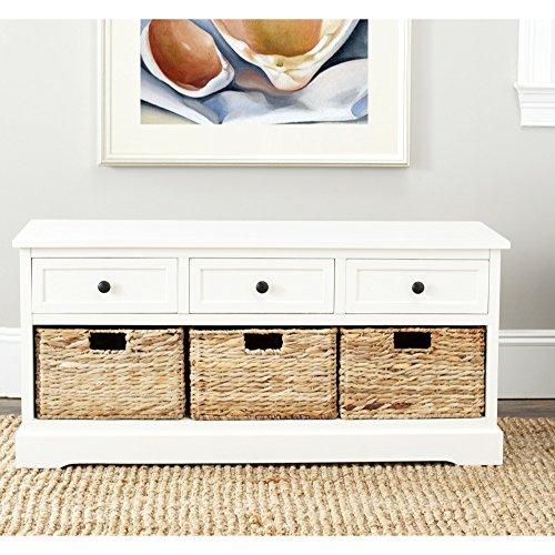 Safavieh American Home Collection Newburgh 3-Drawer Storage Unit Distressed Cream