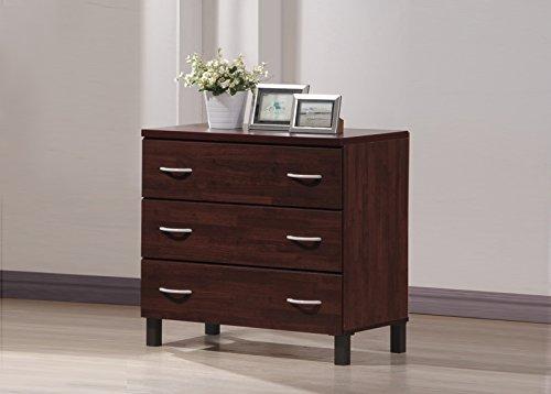 Wholesale Interiors Mason Finish Wood 3 Drawer Storage Chest Oak Brown