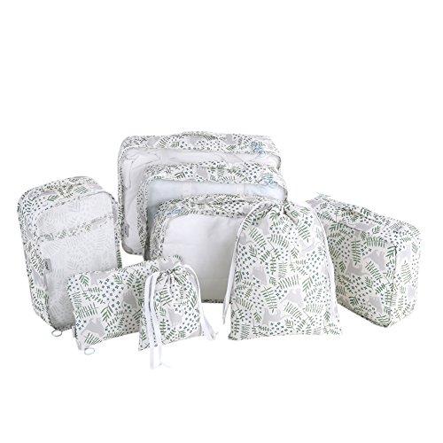 DERCLIVE 8 pieces of portable clothes storage underwear packing travel luggage storage-cat garden