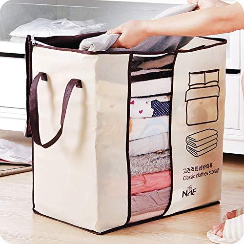 Global Brands Online Honana HN-0828 Portable Clothes Storage Bag Non-Woven Quilt Bag Pillow Blanket Closet Organizer