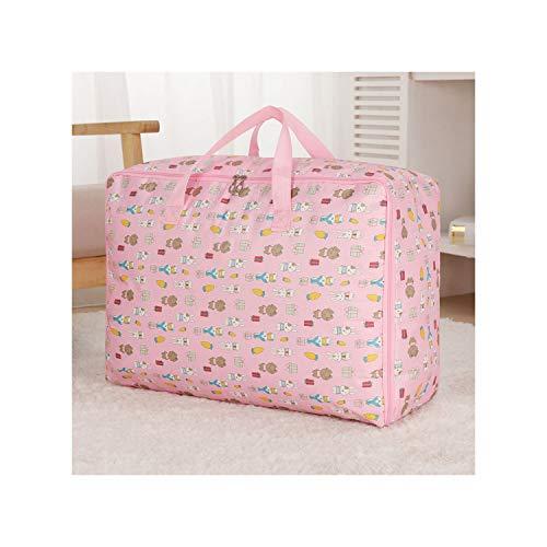 Legoushop Waterproof Portable Clothes Storage Bag Organizer Folding Closet Organizer for Pillow Quilt Blanket Quilt Bag OrganizerMiddle10