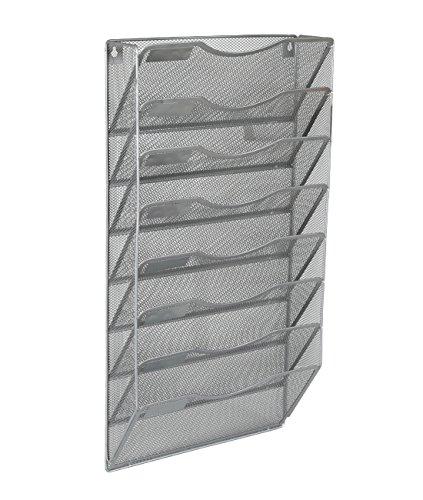 EasyPAG Office 8 Pocket Wall File Holder Organizer Hanging Magazine RackSilver