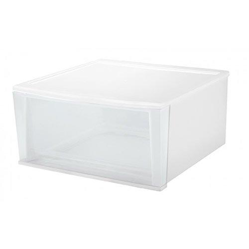 IRIS 32 Quart Large White Stacking Drawer - 189 L x 157 W x 89 H 1 Drawer