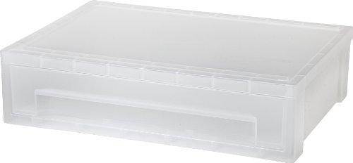IRIS Desktop Letter Size Medium Stacking Drawer Clear 1-Pack