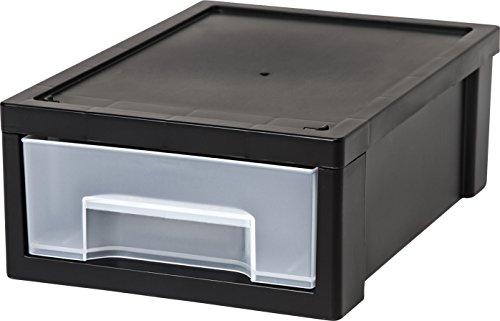 IRIS Desktop Small Stacking Drawer Black