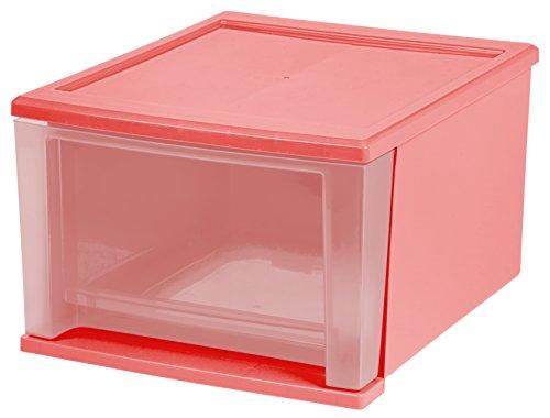 IRIS USA 129978 17 quart Stacking Drawer Pink
