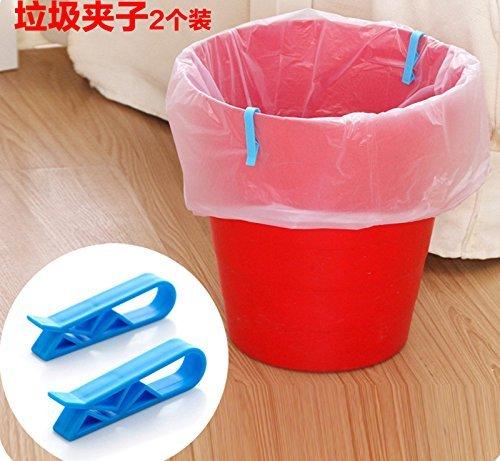 8Pcs Household Garbage Basket Can Waste Bin Dustbin Trash Can Junk Edge Bag Barrel Clip Clamp Plastic Lock Holder Hot Design Practical Home Office Use 8PCS random color