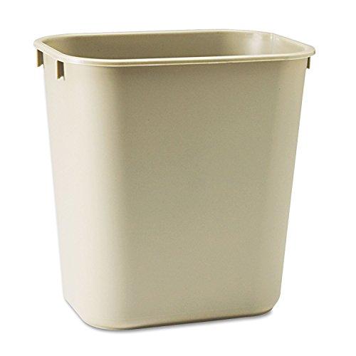 295500BG Rubbermaid 2955 Deskside Small Wastebasket - 341 gal Capacity - Rectangular - 123 Height x 83 Width x 114 Depth - Polyethylene - Beige