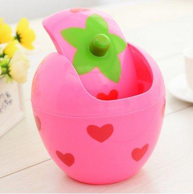 Cute mini trashCreative small wastebasketwave cover trashThe Best U Want Pink