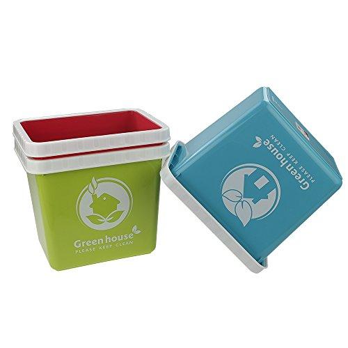 Ggbin 2 Gallon Small Wastebasket for bedroom bathroom 8L3 Packs