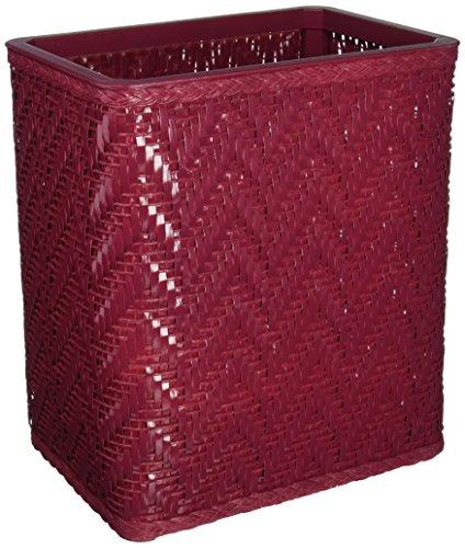 Elegante Collection Decorator Color Wicker Wastebasket S423RB