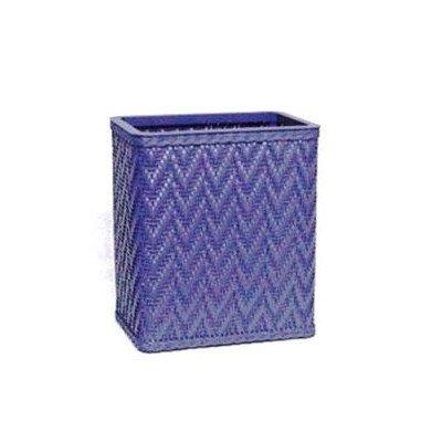 Elegante Decorator Wicker Wastebasket Color Sky Blue
