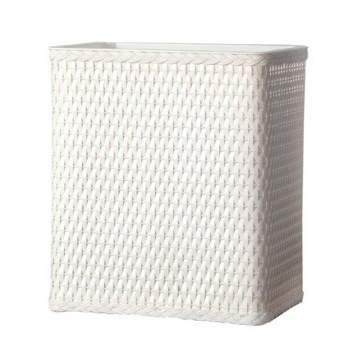 Lamont Home Carter Wicker Waste Basket White