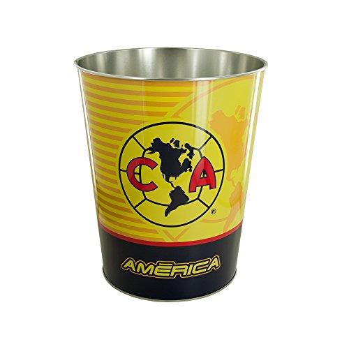 Kole Imports OL078 Club America Metal Wastebasket