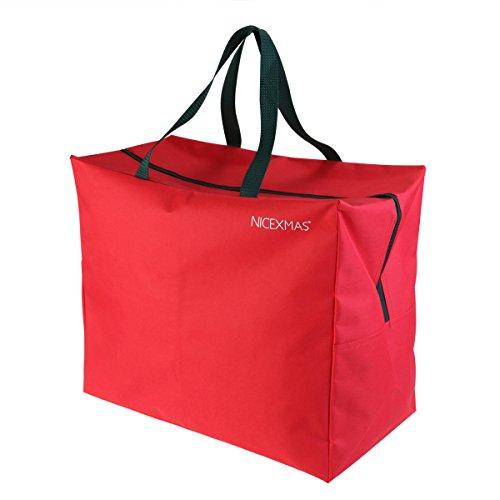 NICEXMAS Christmas Tree Storage Bag Jumbo Storage Bags with Carry Handle for Christmas Ornament Wreath Baubles Lights