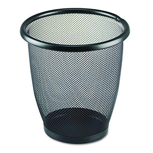 Safco Products 9716BL Onyx Mesh Small Round Wastebasket 3-Quart Black