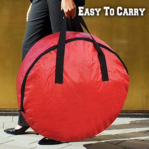 BenefitUSA Heavy Duty Christmas Wreath Storage Bag For 30-Inch Wreaths