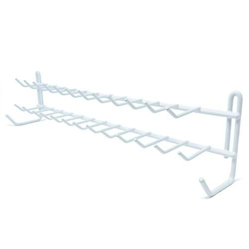 Huji Wall Mount Tie and Belt Rack Organizer White 1 Pack
