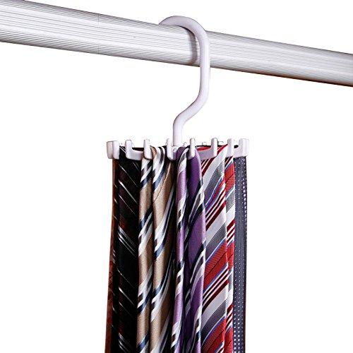 Gotobuy 360°Rotating 20 Hook Neck Ties Organizer Men Tie Rack Hanger Holder