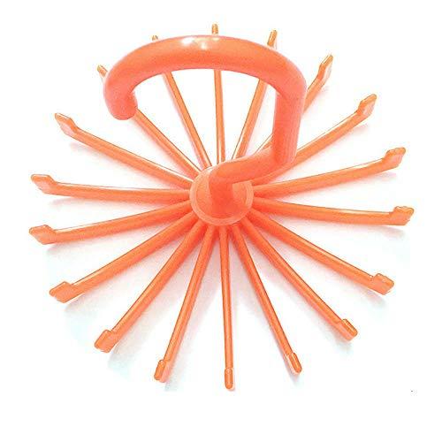 MOPOLIS Men Tie Rack Rotating Adjustable Organizer Belt Scarf Holds 20 Item Mount Holder  Color - orange