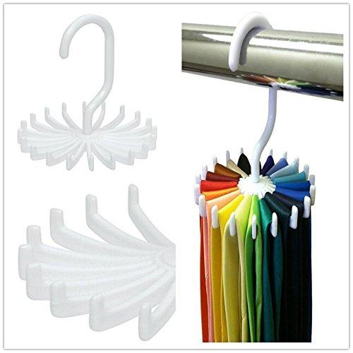 Maison Jardin New Adjustable Rotating 20 Hook Neck Ties Organizer Men Tie Rack Hanger Holder