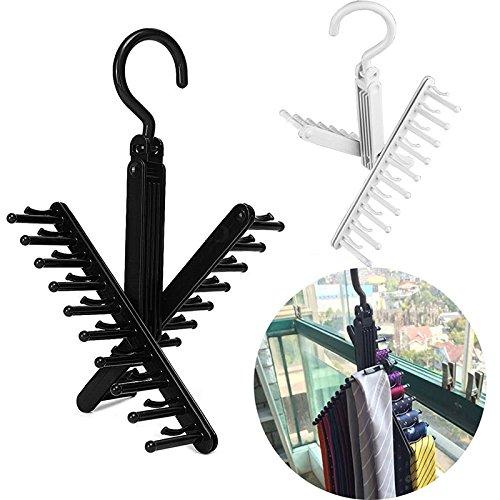 Novelty Adjustable 360 Degree Rotating Tie Rack Top Quality Belt Scarf Neckties Hanger Holder Multifunctional Closet Organizer