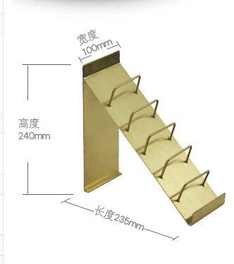 Golden Wallet Display Stand Holder Purse Rack