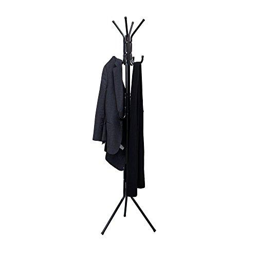 Mind Reader  Hang 11 Hook metal Coat Jacket Purse Scarf Rack Black