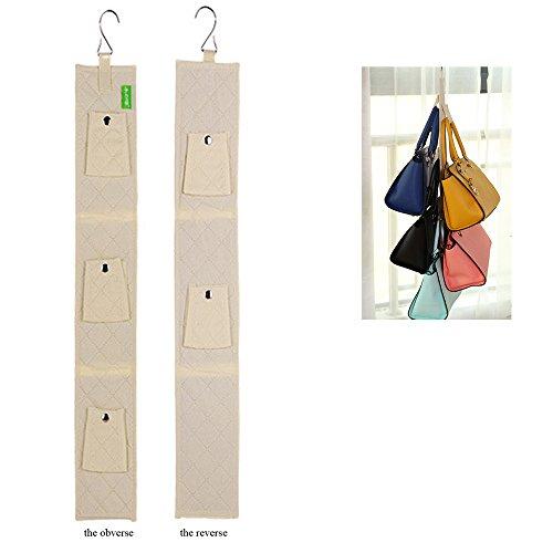 Queens 5 buckles Hanging Purse Rack Handbag Closet Organizer Storage with Hook buff