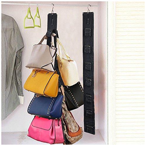 Travelmall Hanging Purse Rack Handbag Closet Organizer Storage with Hook Rack