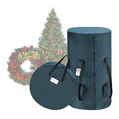 Tiny Tim Totes Premium Green Canvas Christmas Tree Storage Bag 30 Inch Wreath Bag