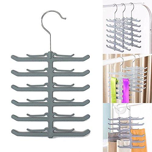 C&C Products Necktie Belt Tie Hanger Scarf Clothes Rack Non-slip Holder Hook