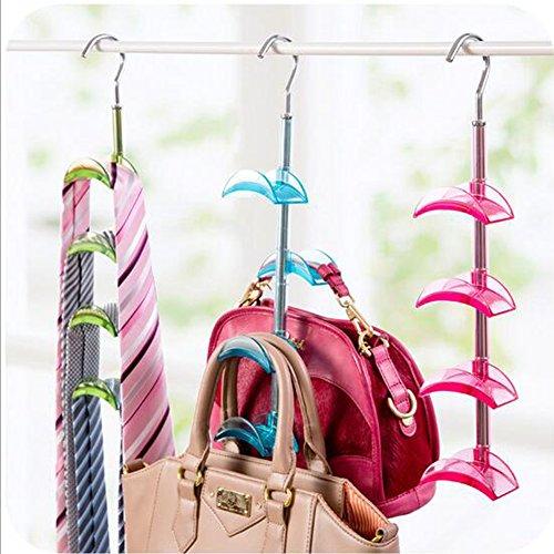"Homiecoâ""¢ Bag Storage Racks Rotatable Bag Hanger Wardrobe Hangers Strong Necktie Belt Hooks Hand Bag Holder Hook"