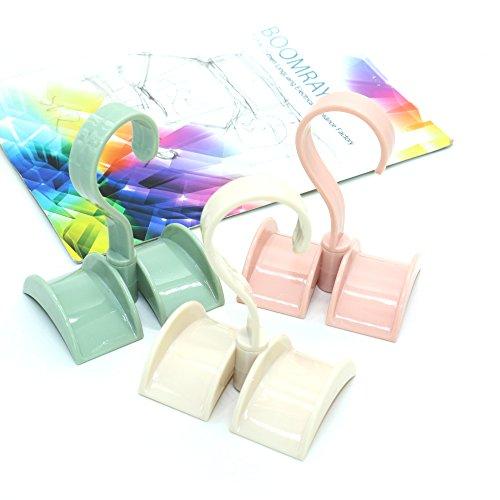 IDS 3 Pcs Bag Storage Racks Plastic Rotatable Wardrobe Hangers Strong Necktie Belt Hooks Hand Bag Holder