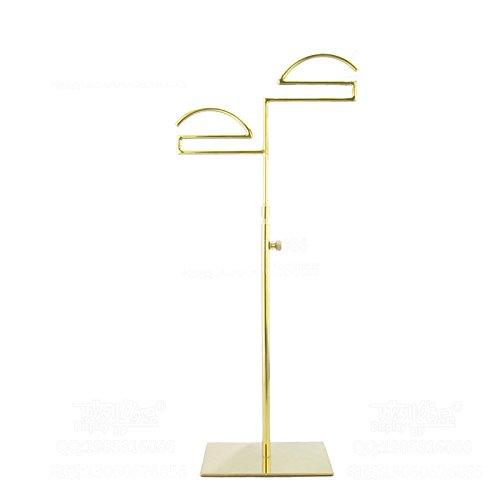 Nipole Free Standing Gold Stainless Steel CoatHandbagNecktieBelt Display Rack Holder