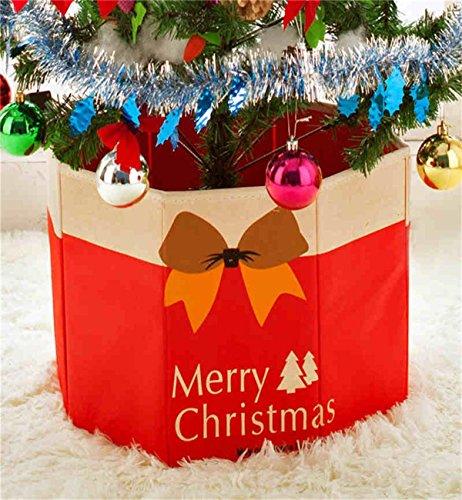 Surenow Christmas Tree Foot Box Decors Ornaments Storage Box Bottom Xmas Decoration 142118 30x36cm