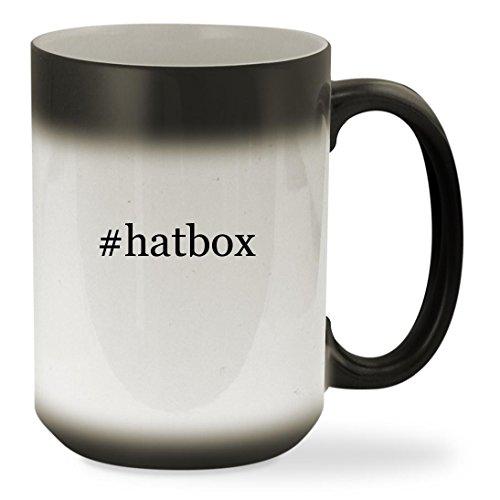 hatbox - 15oz Black Hashtag Color Changing Sturdy Ceramic Coffee Cup Mug