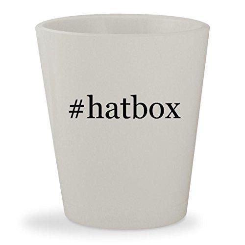 hatbox - White Hashtag Ceramic 15oz Shot Glass