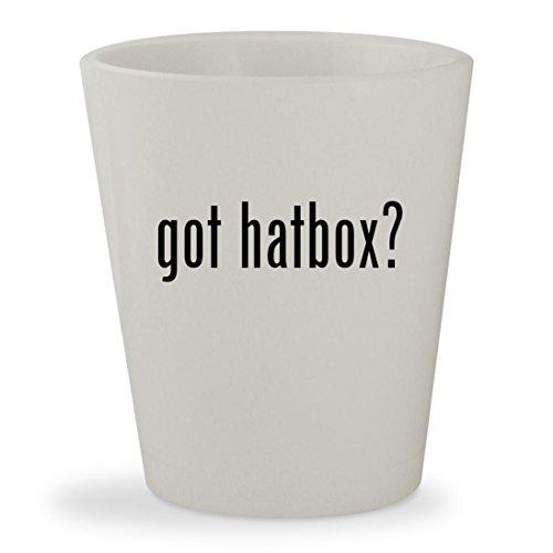 got hatbox - White Ceramic 15oz Shot Glass