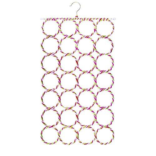 Mango Spot 28 Count Circles Scarf  Belt  Tie Organizer Hanger Holder