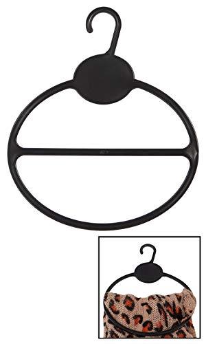 50 Black Scarf Shawl Hangers Tie Holder Organizer Hanger Plastic Storage Round